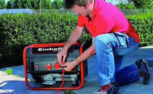Rosso Nero Benzina Einhell 4152541 Generatore di Corrente