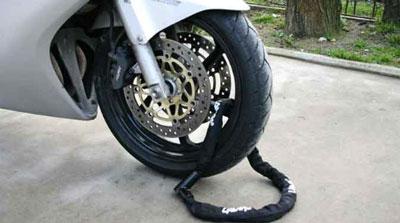 catena antifurto per moto