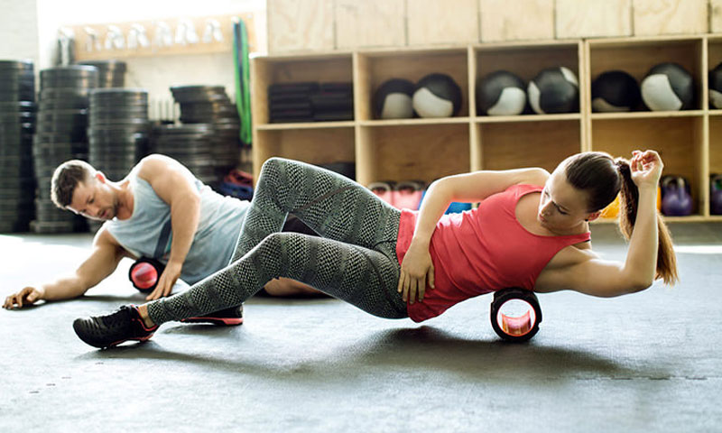 REEHUT Rullo di Schiuma Massaggiatore a Rilascio Fascia Attrezzature Sportivo per Allungamento
