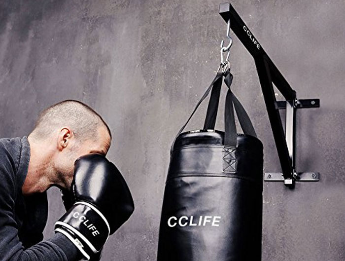 CCLIFE Supporto da soffitto con Gancio per Sacchi Boxe 200 kg